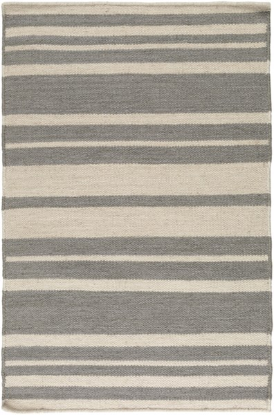 Frontier Contemporary Ivory Gray Wool Area Rug (L 36 X W 24) FT428-23