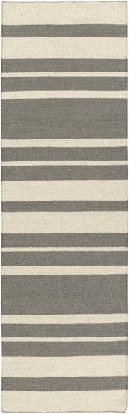 Frontier Contemporary Ivory Gray Wool Runner (L 96 X W 30) FT428-268