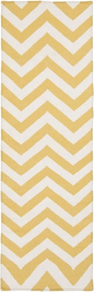 Frontier Contemporary Gold Ivory Wool Runner FT453-268