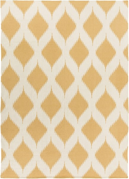 Frontier Global-Inspired Gold Ivory Wool Area Rug FT491-811