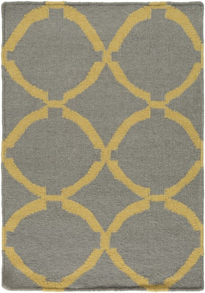 Frontier Contemporary Gray Gold Wool Area Rug (L 36 X W 24) FT499-23