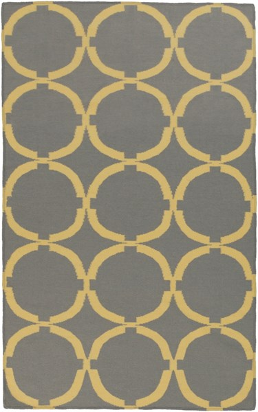 Frontier Gray Gold Wool Area Rug - 60 x 96 FT499-58