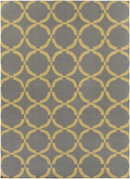 Frontier Gray Gold Wool Area Rug - 96 x 132 FT499-811