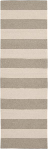 Frontier Contemporary Gray Beige Wool Runner FT51-268