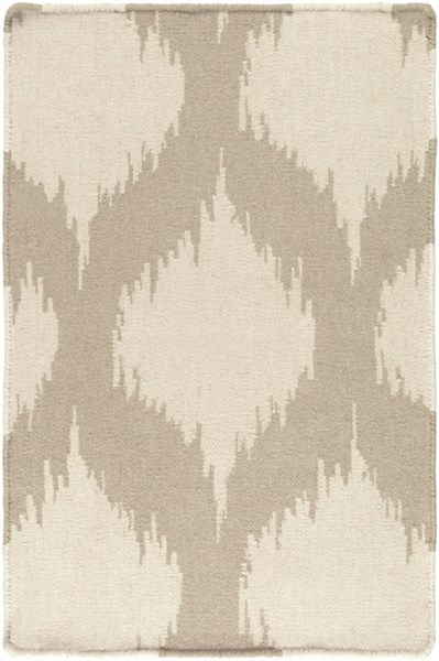 Frontier Ivory Taupe Wool Rectangle Area Rugs 849-VAR1