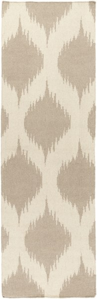 Frontier Global-Inspired Ivory Taupe Wool Runner (L 96 X W 30) FT513-268
