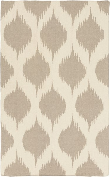 Frontier Ivory Taupe Wool Area Rug (L 96 X W 60) FT513-58