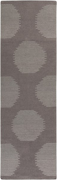 Frontier Contemporary Charcoal Taupe Gray Fabric Runners 1720-VAR1