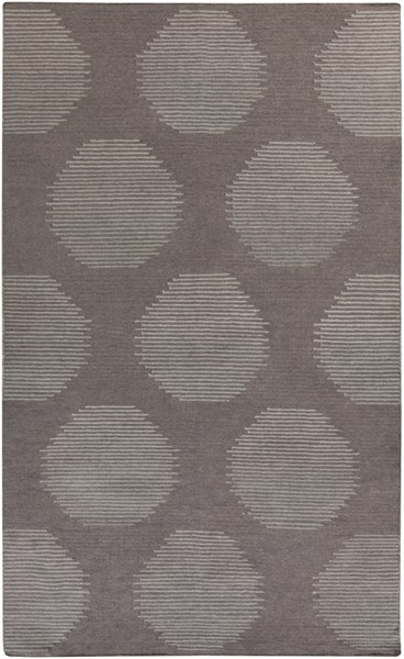 Frontier Charcoal Taupe Gray Fabric Area Rug (L 96 X W 60) FT517-58