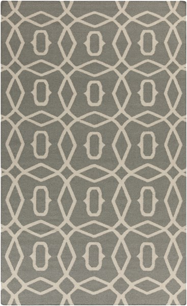 Frontier Beige Gray Fabric Rectangle Area Rug (L 96 X W 60) FT533-58