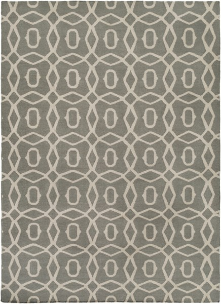Frontier Contemporary Beige Gray Fabric Area Rug (L 132 X W 96) FT533-811