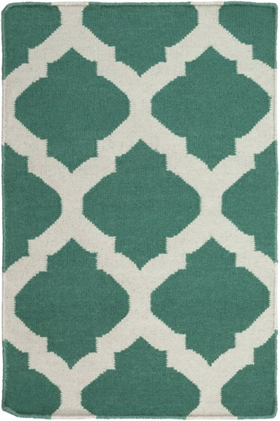 Frontier Contemporary Green Ivory Fabric Area Rug (L 36 X W 24) FT534-23