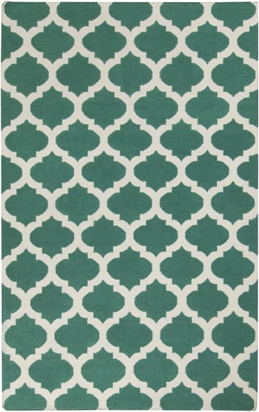 Frontier Contemporary Green Ivory Fabric Area Rug (L 96 X W 60) FT534-58
