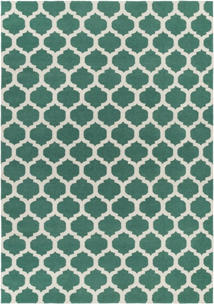 Frontier Contemporary Green Ivory Fabric Area Rug (L 132 X W 96) FT534-811