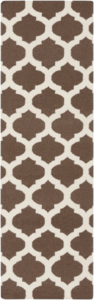 Frontier Contemporary Chocolate Beige Fabric Runner (L 96 X W 30) FT541-268