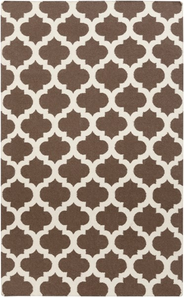 Frontier Contemporary Chocolate Beige Fabric Area Rug (L 96 X W 60) FT541-58