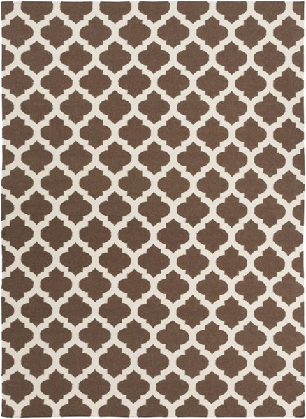 Frontier Contemporary Chocolate Beige Fabric Area Rug (L 132 X W 96) FT541-811