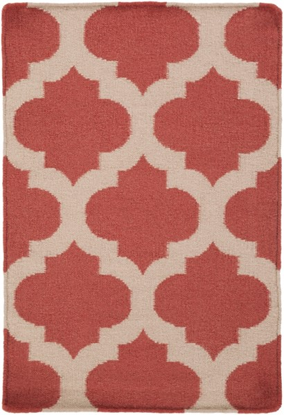 Frontier Burgundy Light Gray Fabric Area Rug (L 36 X W 24) FT542-23