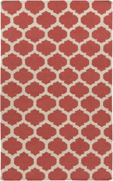 Frontier Burgundy Light Gray Fabric Area Rug (L 96 X W 60) FT542-58