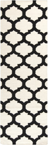 Frontier Contemporary Ivory Black Fabric Runner (L 96 X W 30) FT546-268