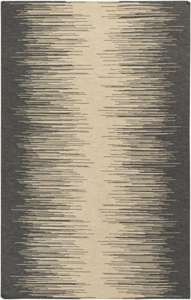 Frontier Lime Charcoal Wool Area Rug - 60 x 96 FT554-58