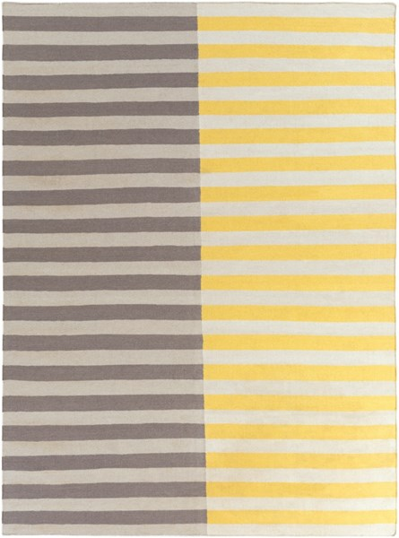 Frontier Light Gray Gold Wool Area Rug - 96 x 132 FT563-811