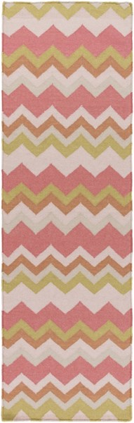 Frontier Contemporary Coral Gold Light Gray Wool Runner (L 96 X W 30) FT601-268
