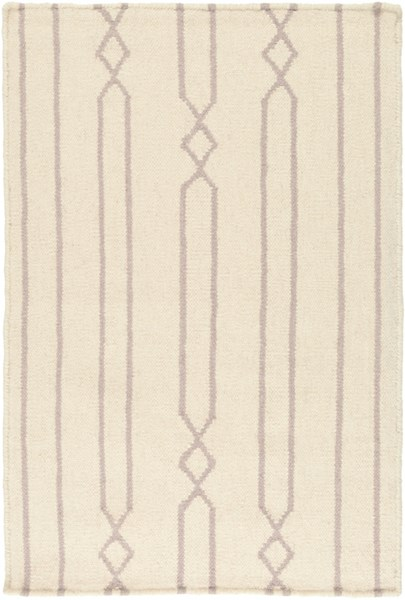 Frontier Contemporary Beige Gray Fabric Striped Area Rug (L 36 X W 24) FT612-23