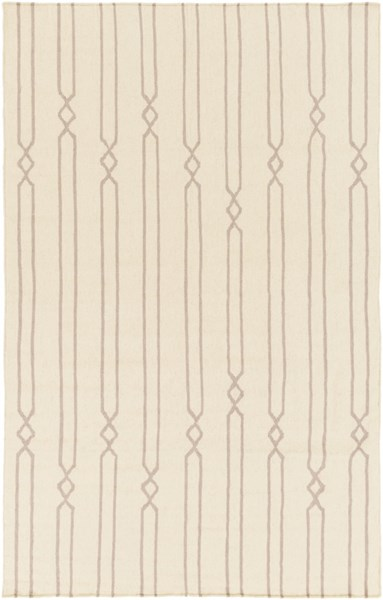 Frontier Contemporary Beige Gray Fabric Striped Area Rug (L 96 X W 60) FT612-58