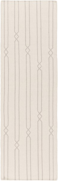 Frontier Contemporary Beige Gray Fabric Runner (L 96 X W 30) FT613-268