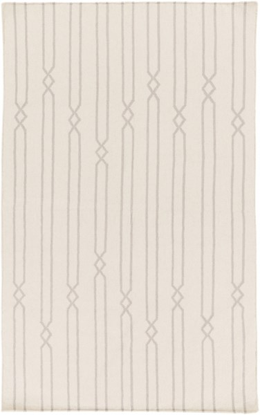 Frontier Contemporary Beige Gray Fabric Area Rug (L 96 X W 60) FT613-58