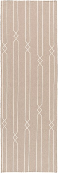 Frontier Contemporary Gray Beige Fabric Runner (L 96 X W 30) FT614-268