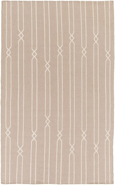 Frontier Contemporary Gray Beige Fabric Area Rug (L 96 X W 60) FT614-58