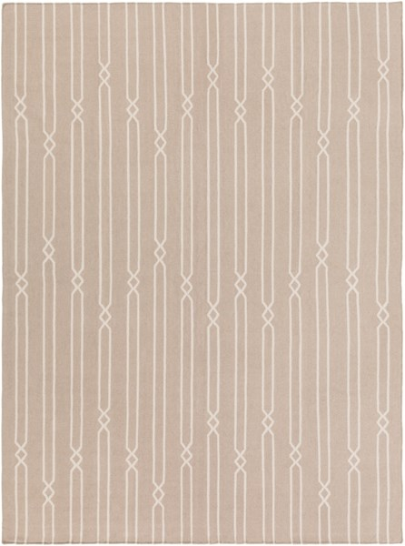 Frontier Contemporary Gray Beige Fabric Area Rug (L 132 X W 96) FT614-811