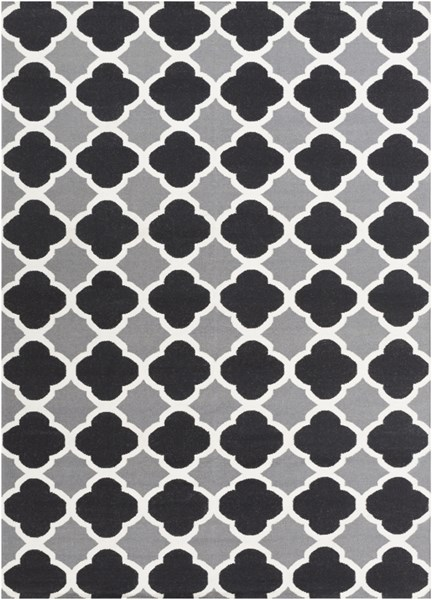 Frontier Black Gray Ivory Wool Area Rug - 96 x 132 FT66-811