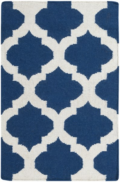 Frontier Contemporary Navy Ivory Fabric Area Rug (L 36 X W 24) FT84-23