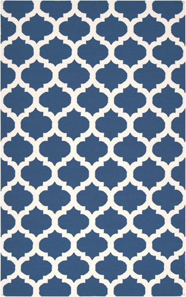 Frontier Contemporary Navy Ivory Fabric Area Rug (L 96 X W 60) FT84-58