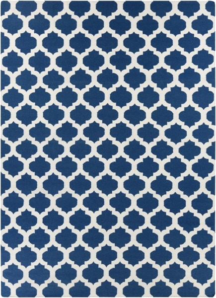 Frontier Contemporary Navy Ivory Fabric Area Rug (L 132 X W 96) FT84-811