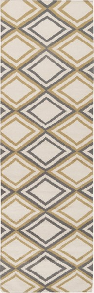 Frontier Contemporary Ivory Light Gray Wool Runner (L 96 X W 30) FT85-268