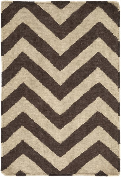 Frontier Chocolate Olive Wool Area Rug - 24 x 36 FT99-23
