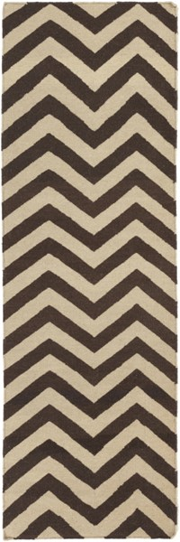 Frontier Chocolate Olive Wool Runner - 30 x 96 FT99-268