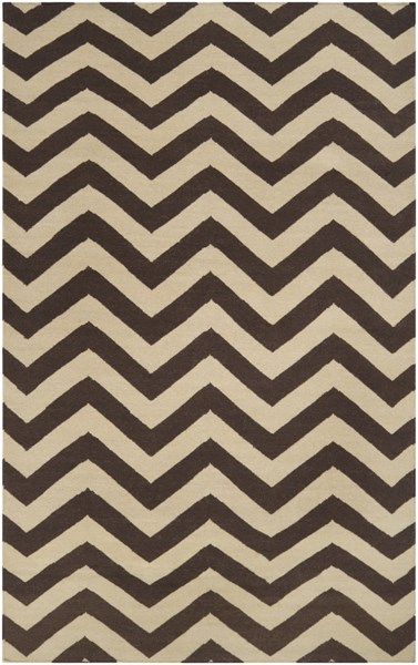 Frontier Chocolate Olive Wool Area Rug - 60 x 96 FT99-58