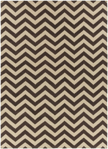 Frontier Chocolate Olive Wool Area Rug - 96 x 132 FT99-811