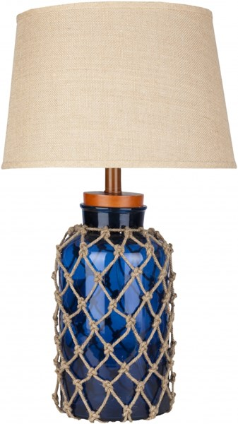 Amalfi Contemporary Blue Glass Table Lamp W/3 Way Switch FTL-7000