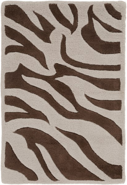 Goa Glam Beige Chocolate Wool Area Rug (L 36 X W 24) G169-23
