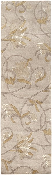 Goa Contemporary Taupe Beige Olive Wool Runner (L 96 X W 30) G44-268