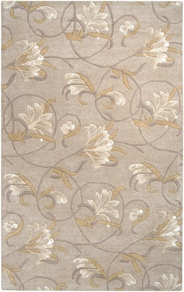 Goa Taupe Gold Beige Olive New Zealand Wool Area Rug - 60 x 96 G44-58