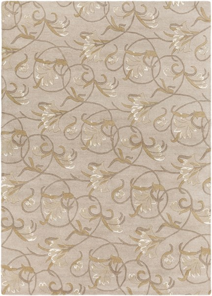 Goa Taupe Gold Beige Olive New Zealand Wool Area Rug - 96 x 132 G44-811