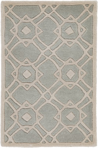 Goa Contemporary Light Gray Beige Wool Area Rug (L 36 X W 24) G5030-23