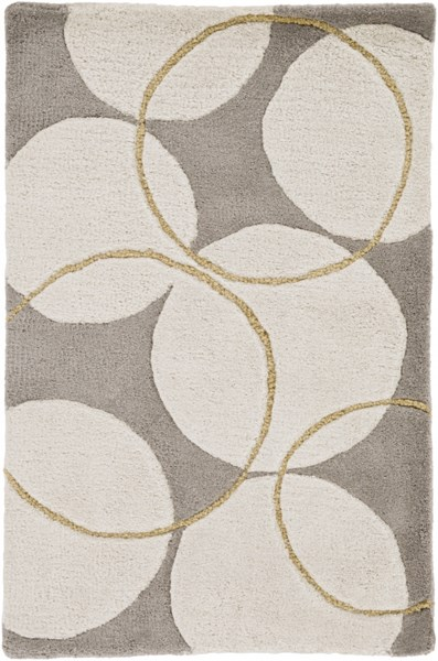 Goa Contemporary Beige Olive Gold Wool Area Rug (L 36 X W 24) G5037-23